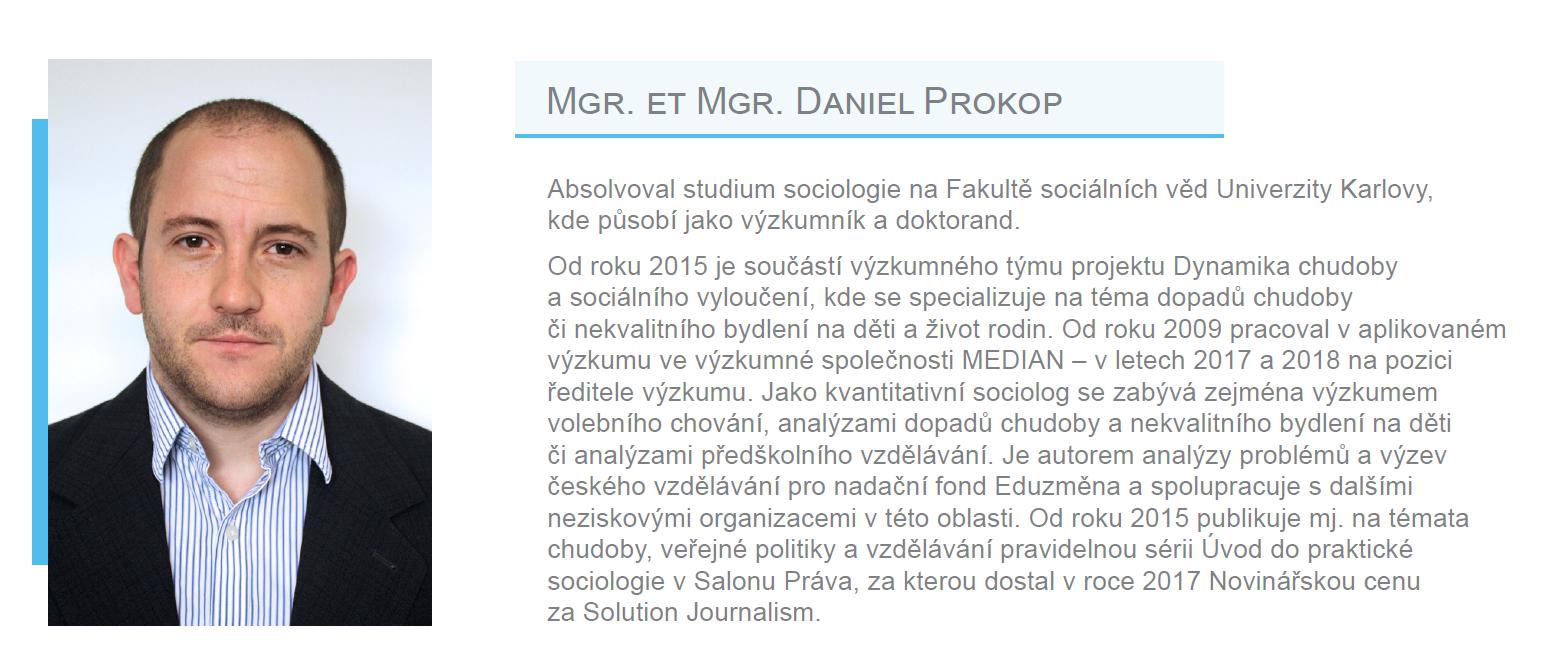 Člen EES - Mgt. et Mgr. Daniel Prokop