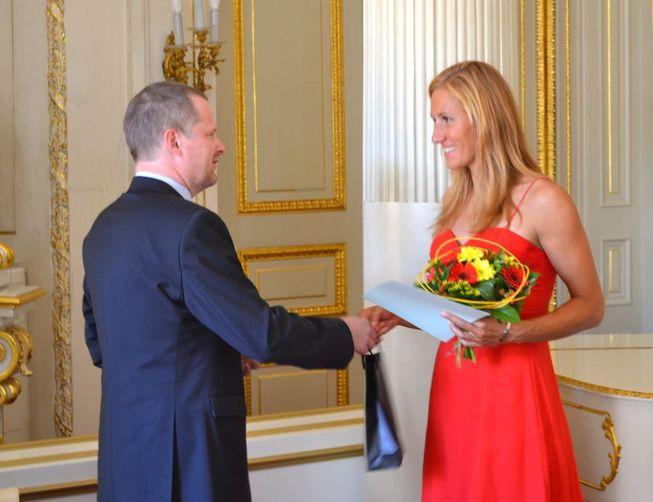 Miroslava Knapková s ministrem Fialou