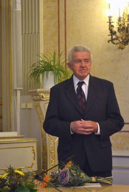 Historicky první laureát ceny Františka Běhounka prof. RNDr. Jiří Komárek, DrSc.