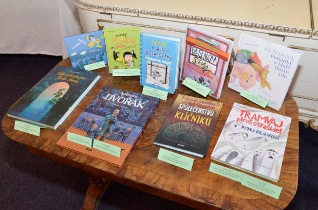 """Vítězné knihy dětské celostátní ankety """"SUK – Čteme všichni"""" v roce 2013."""