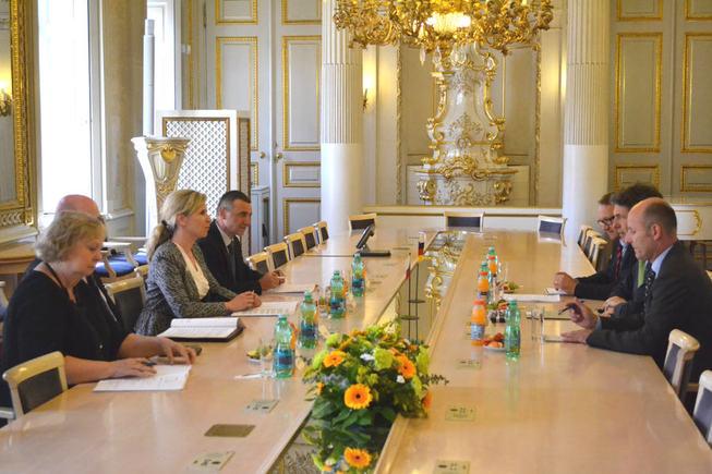 Kateřina Valachová a velvyslanec SRN