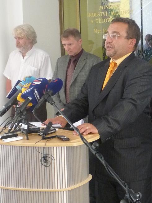 Tisková konference na MŠMT