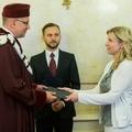 Rektor Mikuláš Bek převzal na MŠMT jmenovací dekret