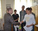 Ministr Fiala na Gymnáziu Nymburk
