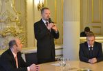 Ministr školství Petr Fiala vítá na MŠMT rehabilitované učitele, kterým udělil Medaili I. stupně