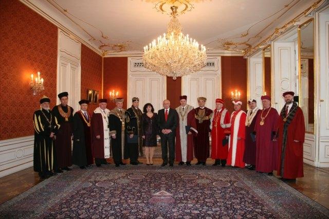 Prezident republiky, ministryně školství a nově jmenovaní rektoři